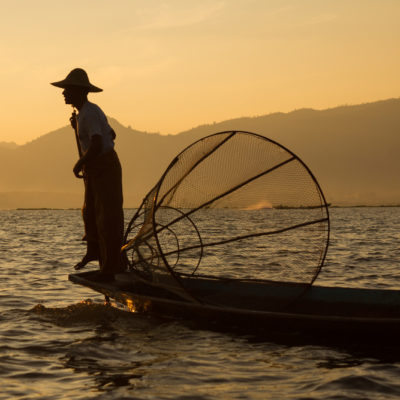 Lake Inle fisherman